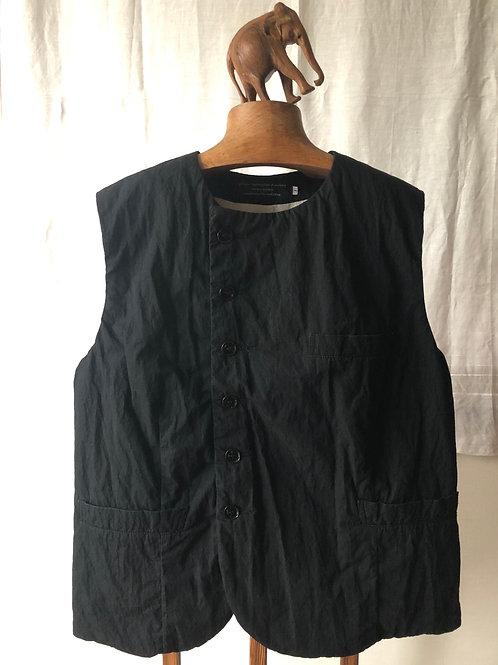 garment reproduction of workers / 1895 bourgeron vest (black)