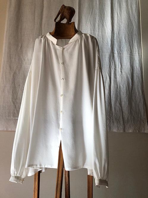 humoresque / silk gather blouse (white)