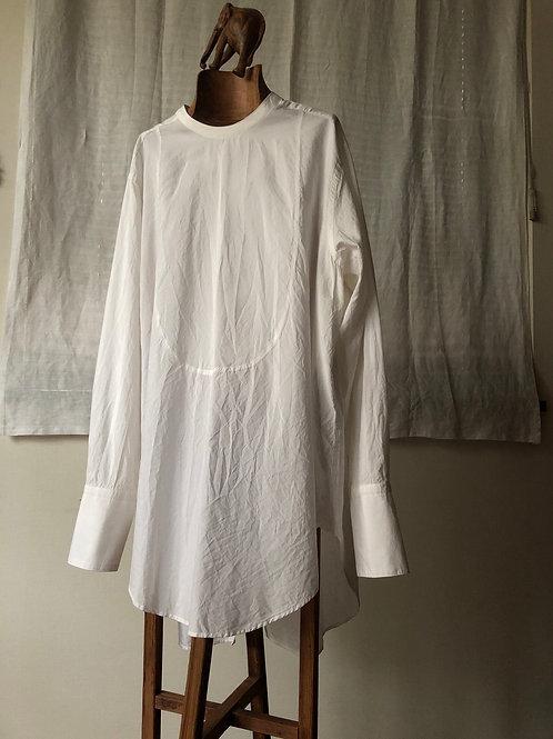 humoresque / long cuffs shirt (white)