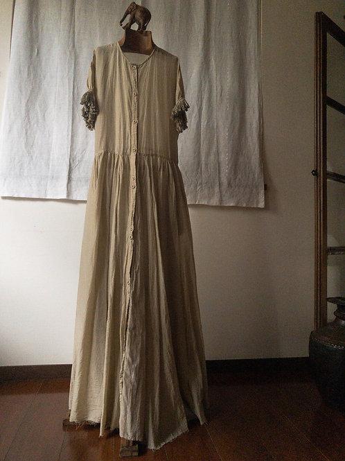 tabrik / Fringe sleeve dress (paper)