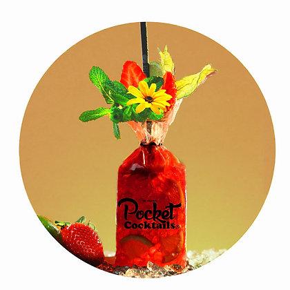 Pocket Cocktails Zustellung Wien | Strawberry Caipirinha bestellen liefern lassen