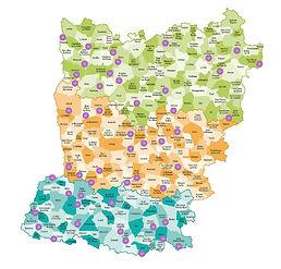 Carte des associations locales Mayenne.J
