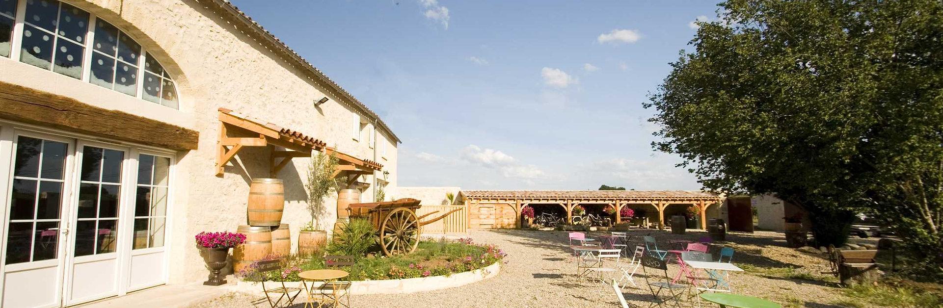 La terrasse de l'ilot Vignes.