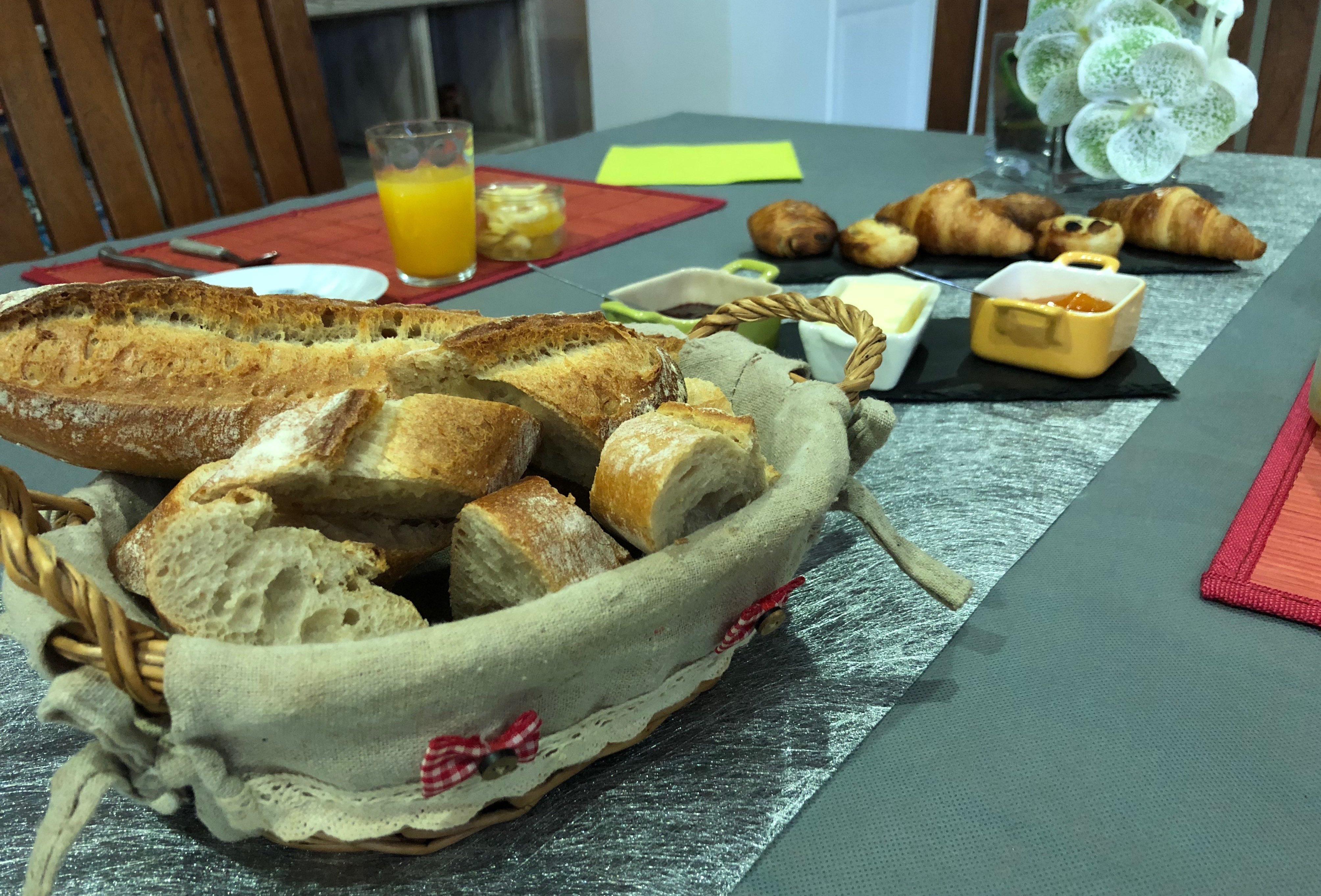 le pain qui sort du four...