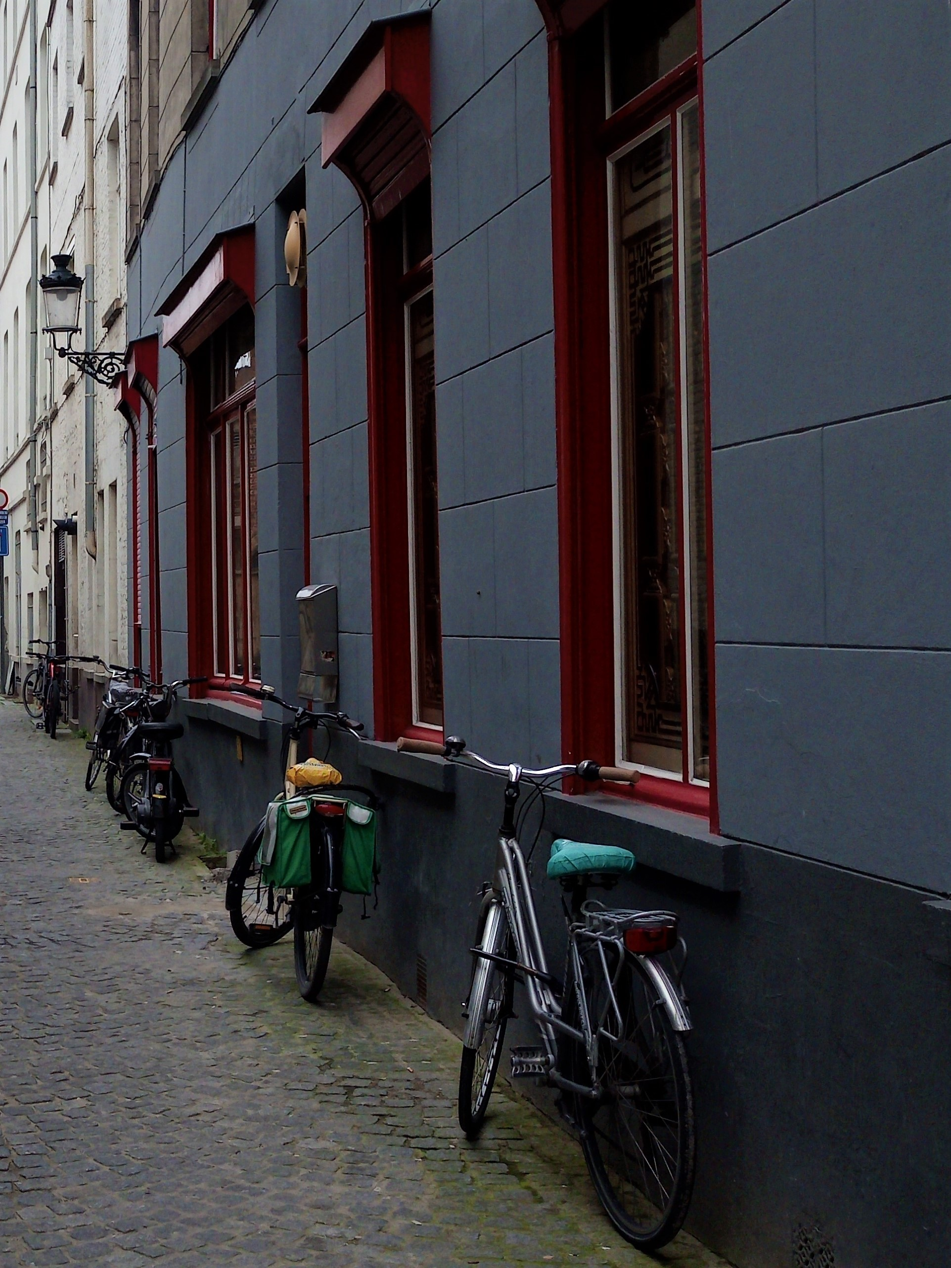 Bicycles in a Belgian street