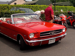A Powerful Red Mustang