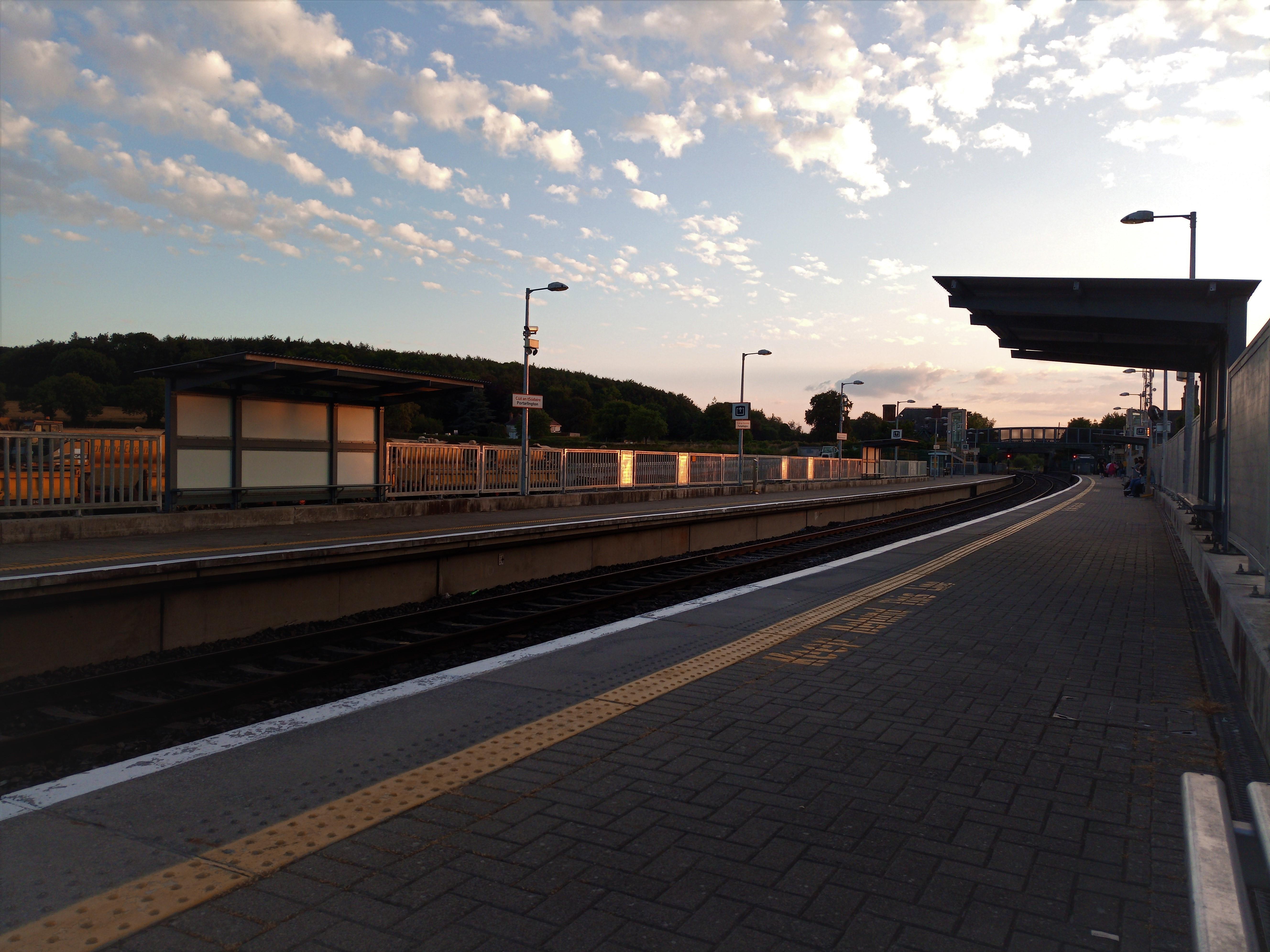 Waiting the train