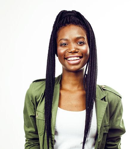 young pretty african-american girl posin