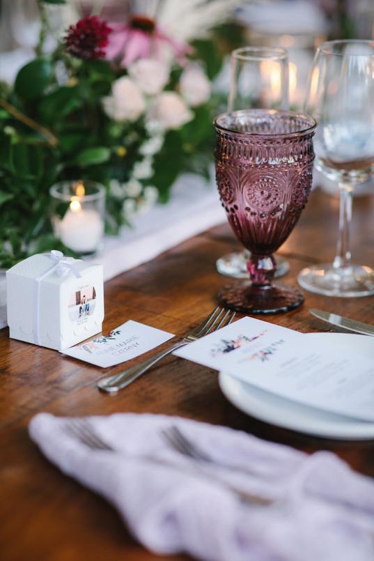 Mauve and Lavender Wedding Design