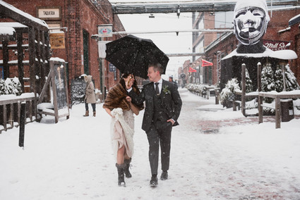Winter Wedding First Look