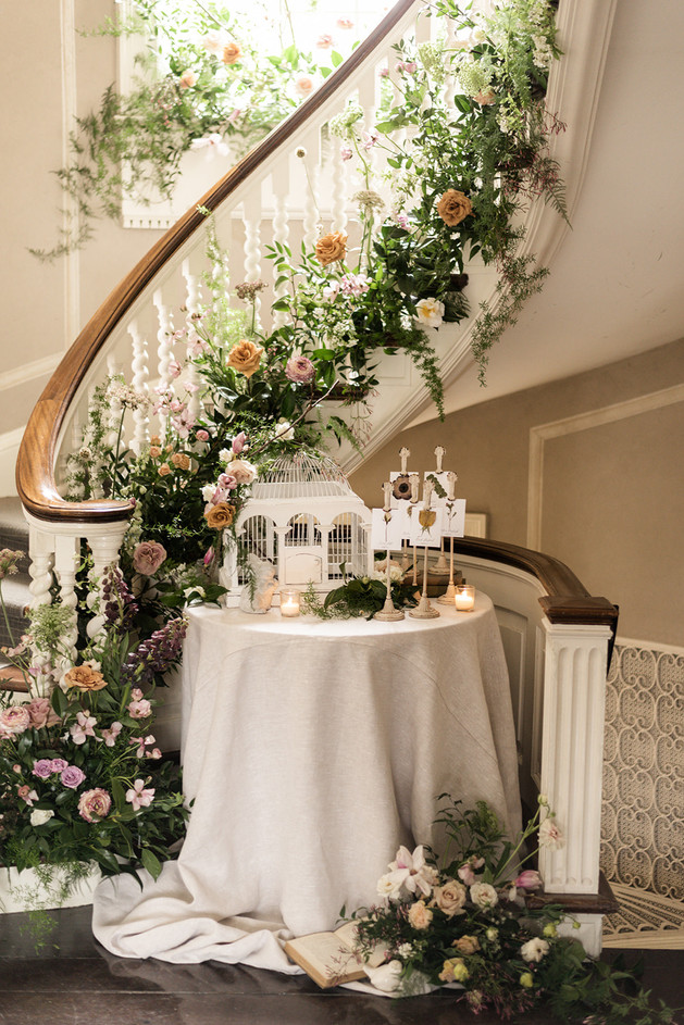 Spring Wedding Receiving Table