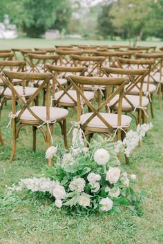 Outdoor Wedding Ceremony Aisle Arrangements