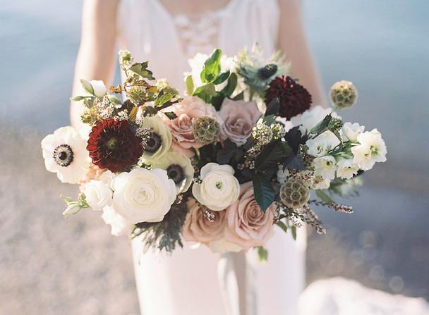 Garden Inspired Bridal Bouquet for Beach Wedding