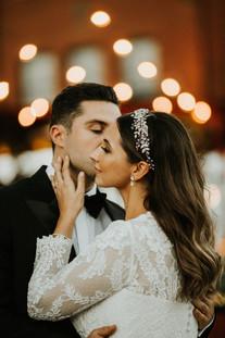 Sunset Wedding in Distillery District Toronto