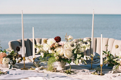 Table Decor for Intimate Beach Wedding