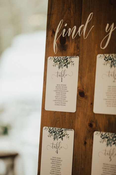 Creative Rustic Seating Chart