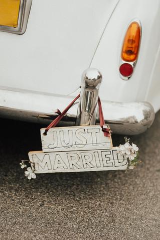 Just Married Getaway Car