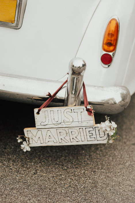 Just Married Getaway Car