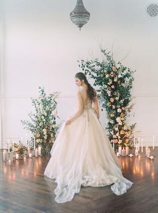 Assymetrical Floral Wedding Arch