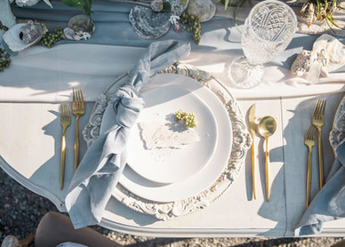 Table Setting for Intimate Beach Wedding