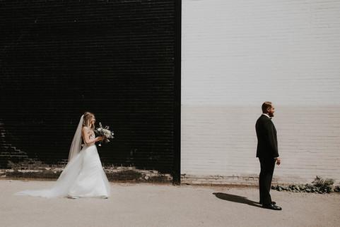 First Look | 2nd Floor Events Wedding