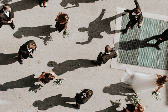Arial Bridal Party Photo | Toronto Wedding Planner