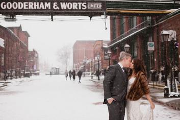 Winter Wedding in Distillery District