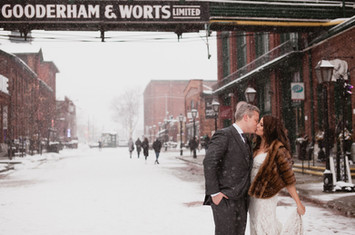Winter Wedding in Distillery District