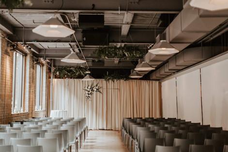 Ceremony at 2nd Floor Events | Juniper Event Co. Wedding Planner