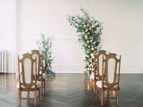 Assymetrical Wedding Arch with Florals