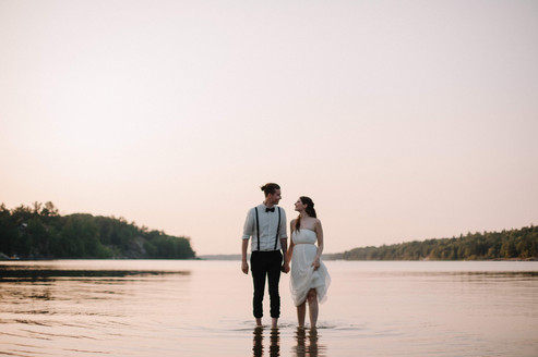 Sunset Wedding in Ontario