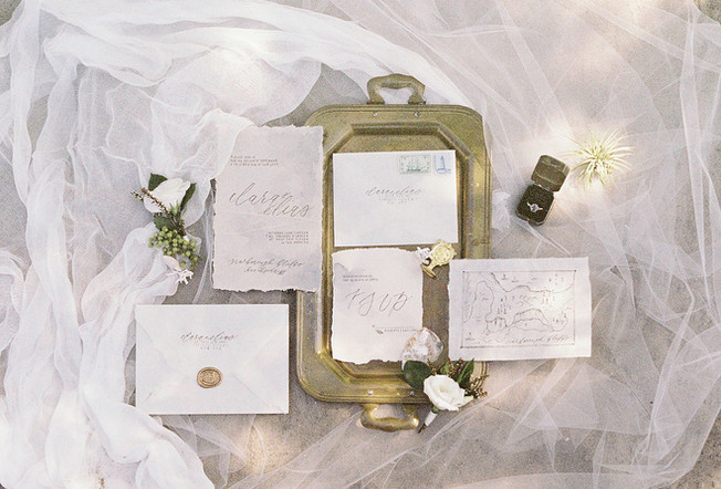 Beach inspired wedding stationery