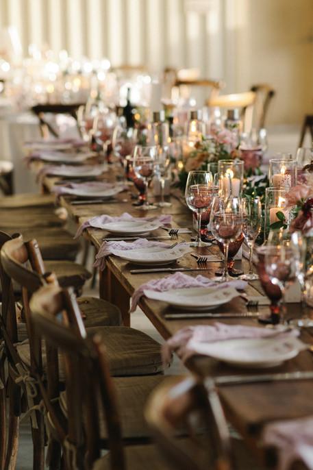 Fall Family Style Wedding