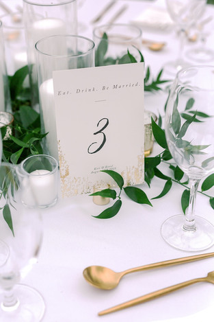 Classic Table Setting for Summer Wedding