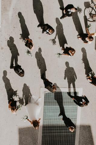 Overhead Wedding Photos | 2nd Floor Events
