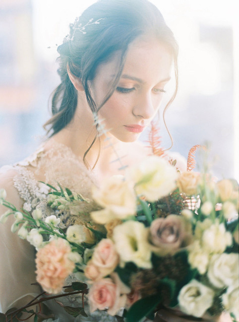 Briar Rose Wedding Bouquet with muted blush
