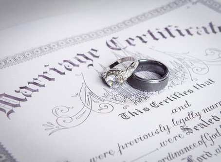 April 14, 2020 Marriage License Update