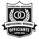 Officiant Amber is a member of the prestigious International Association of Professional Wedding Officiants organization