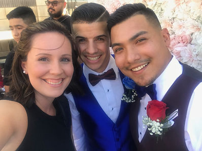 Officiant Amber offers same-sex wedding ceremonies for gay, lesbian, and transgender couples. Here, a same-sex couple smile after they are married by Officiant Amber