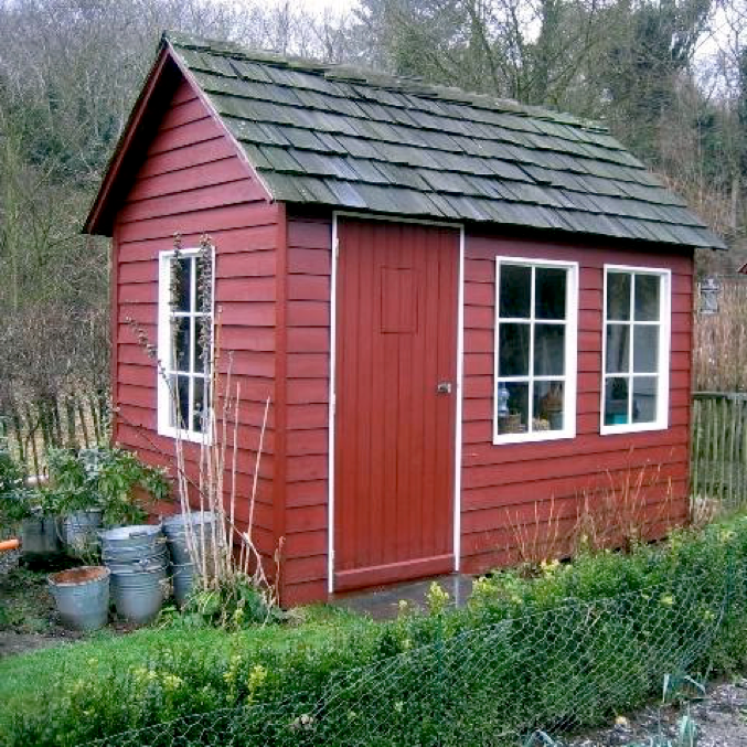 Cabane jardinier au potager