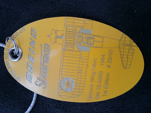 Boeing Stearman luggage tag - Plan view