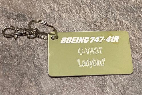 Virgin Boeing 747 'Ladybird' tags