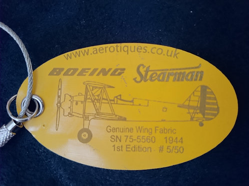 Boeing Stearman Luggage Tag - Profile view