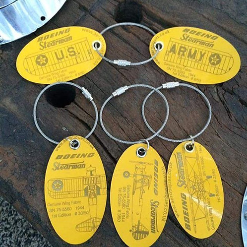 Genuine Boeing Stearman wing fabric collectors' set of 5 tags