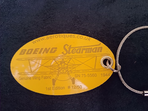 Boeing Stearman wing skin - Luggage Tag - Head on view
