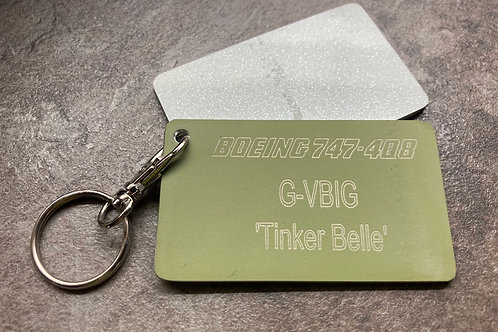 Virgin Boeing 747 'Tinker Belle' tags