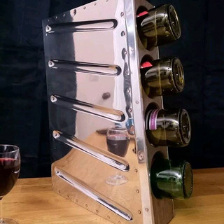 Piper rudder wine rack