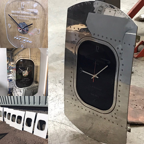 Boeing 747 fuselage section clock