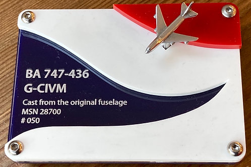 BA 747 G-CIVM mini model