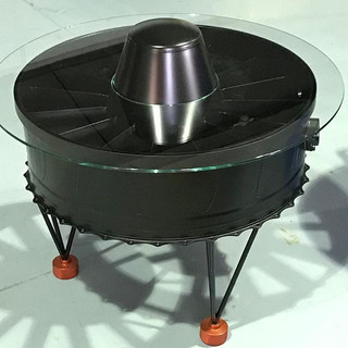 Tornado exhaust diffuser coffee table